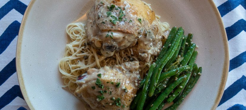TARRAGON CHICKEN WITH CHARDONNAY CREAM SAUCE